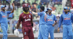 India thrash West Indies in 5th ODI, clinch series 3-1
