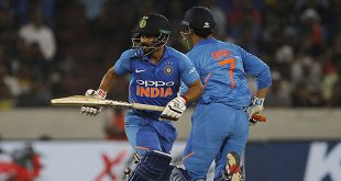 Jadhav, Dhoni star in India's six-wicket win over Australia