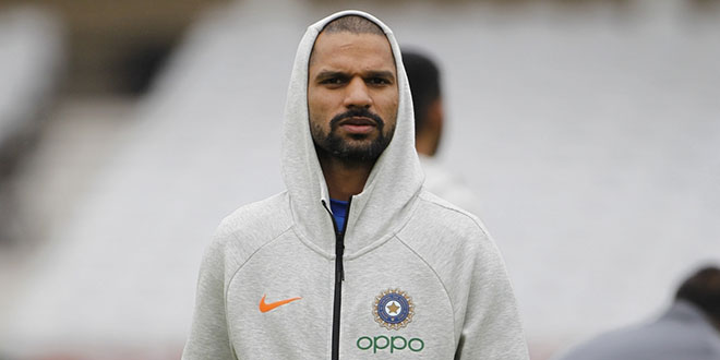 Shikhar Dhawan ruled out of WC, Rishabh to replace opener